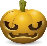 Drawing of angry carved pumpkin