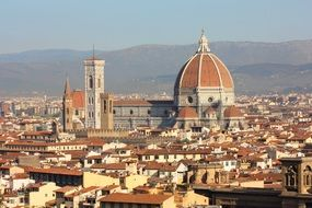 Panorama of Duomo in Tuscany, Italy