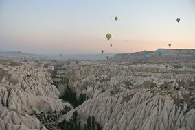 landscape of the valley in cappadocia