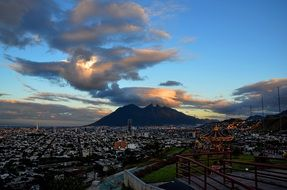 Monterrey cloud mountains Cerro