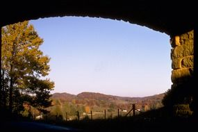 blue ridge mountains fall arched scenery