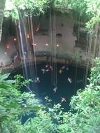 panorama of cenote in mexico