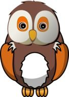 Cute owl bird clipart