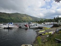 lake loch lomond boats jetty
