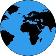 graphic earth globe