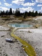 bewitching geothermal pond
