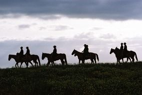 horse riders in Texas