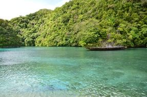 scenic lake in palau