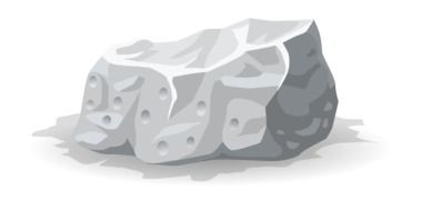 graphic drawing of a white rock