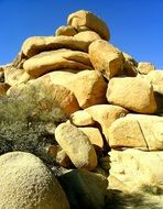 heaped boulders in Joshua Tree National Park