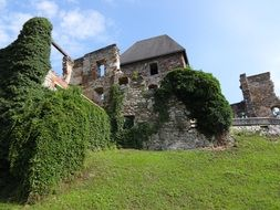 Ruins of an ancient castle in Austria