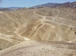 lunar landscape of death valley in US