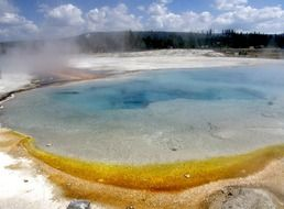 volcanic geyser in Yellowstone National Park, Wyoming