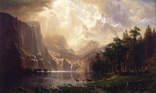painting oil on canvas by alfred bierstadt
