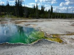 geothermal pool in the yellowstone national park