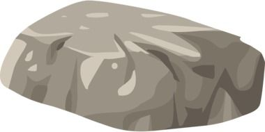 graphic drawing of a boulder