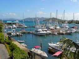 panorama of the port in St. Thomas