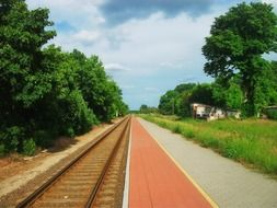 railway in the countryside in Hungary