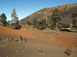 landscape of sunset crater