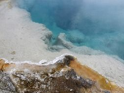 unusual scenery of Yellowstone National Park