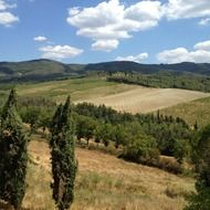 panoramic view of Tuscan countryside