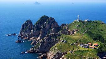 lighthouse island in korea