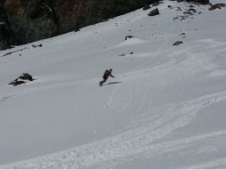 snowboarder on the downhill