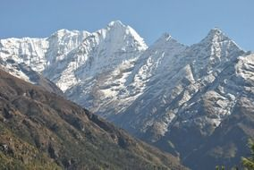 snow-capped peaks of himalaya mountains, nepal