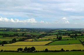 Panorama of fields in yorkshire
