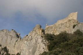 Peyrepertuse is a ruined fortress