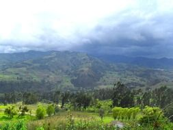 panorama of the valley in the clouds in colombia