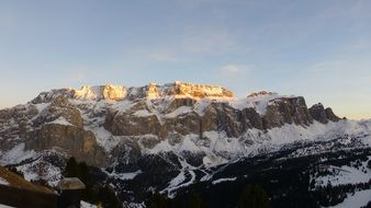 landscape of the dolomites