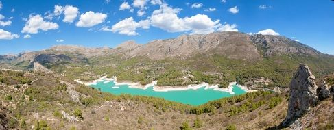 wonderful lake mountain landscape spain