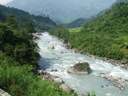 river in annapurna