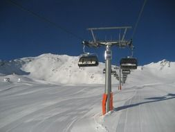 chairlift on snow mountain
