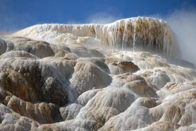 mammoth hot springs in Wyoming
