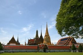 Landscape with the beautiful temple in Bangkok