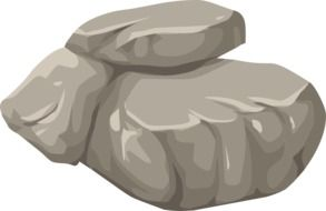 rock boulder stone nature granite drawing