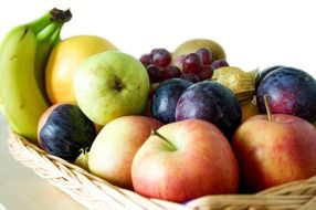 different fruits in a basket
