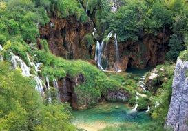 beautiful waterfall in Croatia