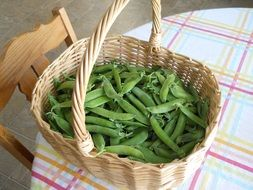 green peas basket