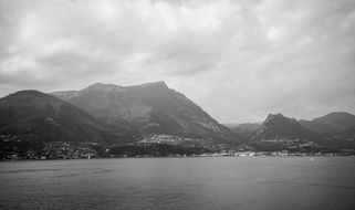 lake garda italy mountain landscape view