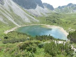 mountain pool lake little bergsee