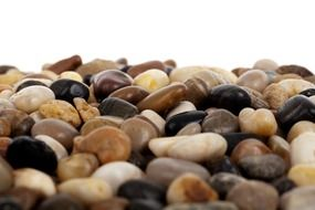 isolated natural pebbles