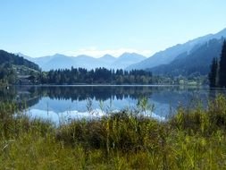 panorama of alpine lake in Austria