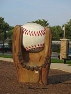 monument of baseball mitt