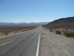 flat highway in Death Valley