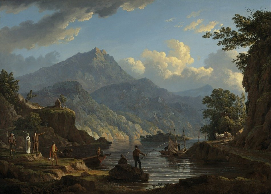 scenic view of the mountains, painting by john knox