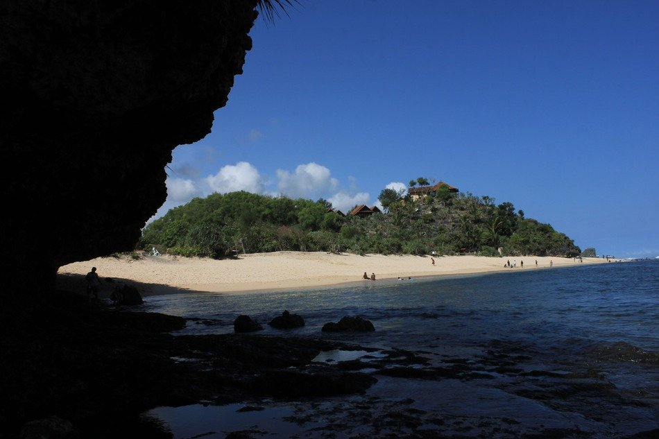 landscape with beach, indonesia, gunung kidul