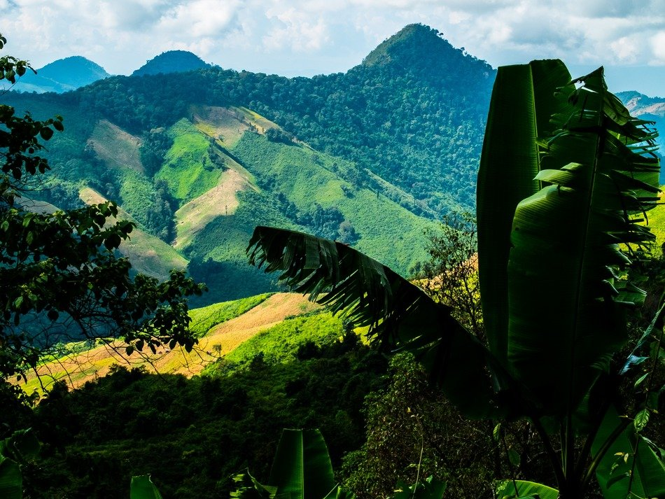 Panorama of the mountain landscape of northern thailand